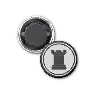 Grajo del negro del pedazo de ajedrez imanes