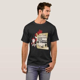 Gran 25to regalo de la camiseta de Navidad para