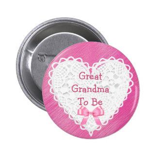 Gran abuela a ser botón de encaje rosado de la