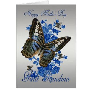 Gran abuela, tarjeta del día de madre con las mari