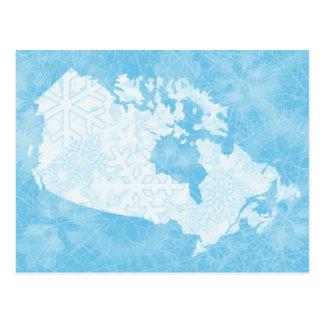 ¡Gran blanco al norte de Canadá - congelado! Postal