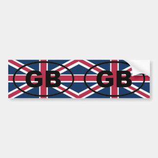 Gran Bretaña - GB - óvalo europeo Pegatina De Parachoque