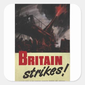 Gran Bretaña pega el poster de Harold_Propaganda Pegatina Cuadrada