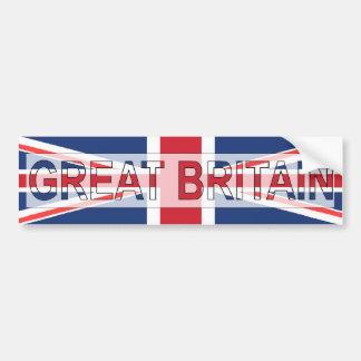 Gran Bretaña Pegatina De Parachoque