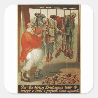Gran Bretaña todo el poster de la propaganda de Pegatina Cuadrada