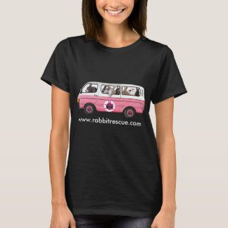 Gran camiseta del autobús del conejito por rescate
