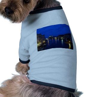 Gran Canal de Venecia por noche Camiseta Con Mangas Para Perro