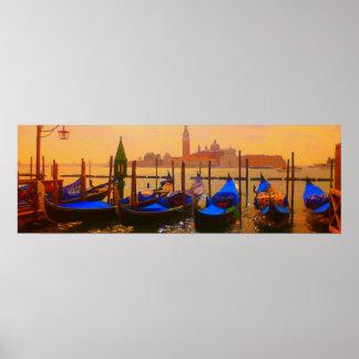 Gran Canal de Venecia y viaje de Italia de las Póster