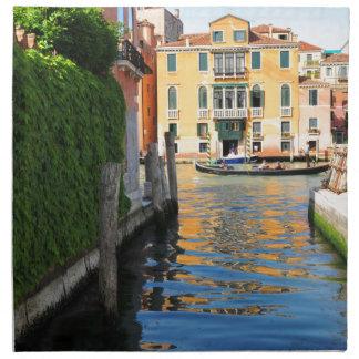 Gran Canal, Venecia, Italia Servilleta De Tela