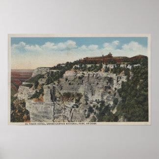 Gran Cañón, Arizona - opinión del hotel del EL Tov Posters