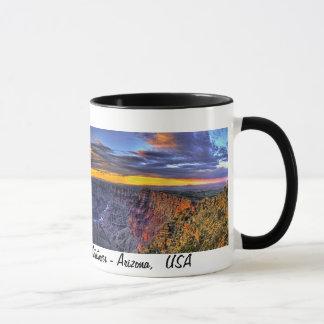 Gran Cañón - Arizona, taza del panorama de los