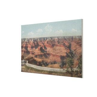 Gran Cañón, Arizona - vista del barranco de Hote Impresion En Lona
