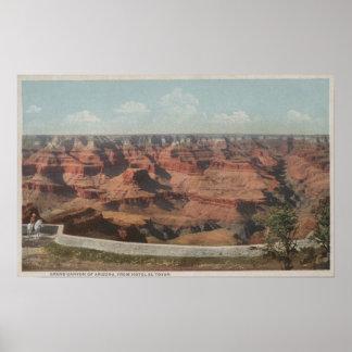 Gran Cañón, Arizona - vista del barranco de Hote Posters
