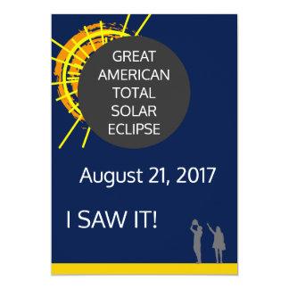 Gran certificado americano del observador del invitación 12,7 x 17,8 cm