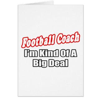 Gran cosa del entrenador de fútbol… tarjetón