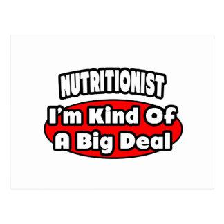 Gran cosa del nutricionista… tarjeta postal