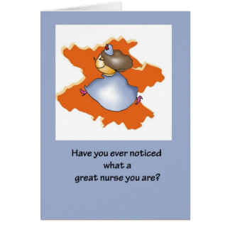 Gran enfermera el día de las enfermeras felicitaciones