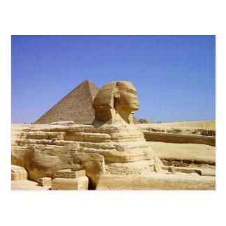 Gran esfinge de la postal de Giza
