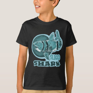 gran estilo cortado del dibujo animado del tiburón camiseta