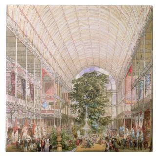 Gran exposición de 1851. Decoración del transe Azulejo Cuadrado Grande