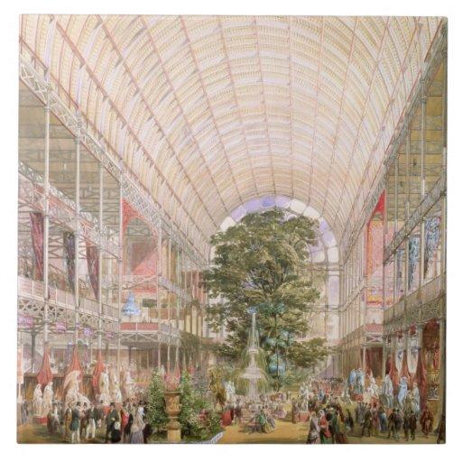 Gran exposición de 1851. Decoración del transe Teja Cerámica