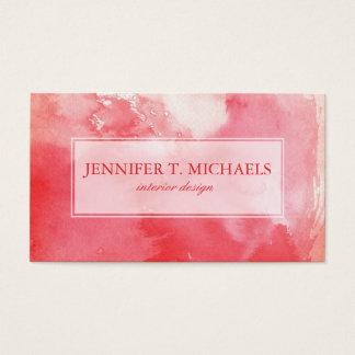 gran fondo de la acuarela - pinturas 3 de la tarjeta de negocios