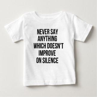 Gran frase simple fresca de tao de la filosofía de camiseta de bebé