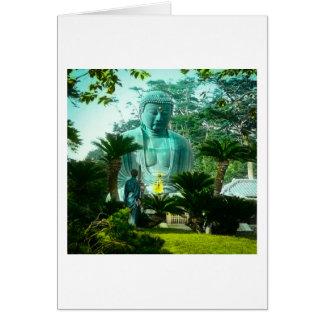 Gran Gaibutsu en Kamakura Buda gigante Japón Tarjeta De Felicitación