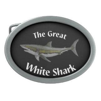 gran hebilla del cinturón del tiburón blanco
