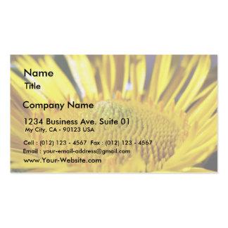 Gran imagen amarilla grande de la macro de la flor tarjetas de visita