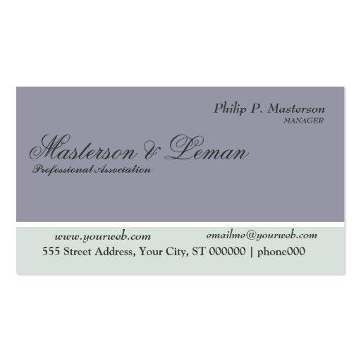 Gran impresión de los colores de moda pulidos masc tarjeta de visita