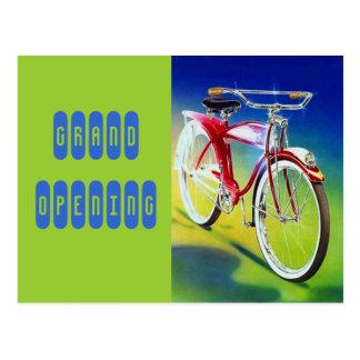 Gran inauguración de la bicicleta de la bici del e tarjetas postales