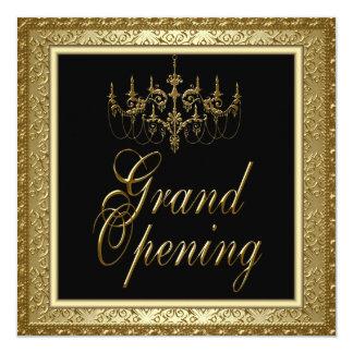 Gran inauguración negra del negocio de la lámpara invitación 13,3 cm x 13,3cm