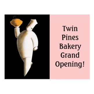 ¡Gran inauguración retra del cocinero del negocio  Tarjetas Postales