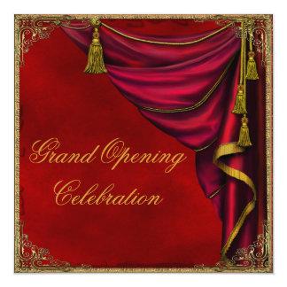 Gran inauguración roja del negocio corporativo del invitación 13,3 cm x 13,3cm
