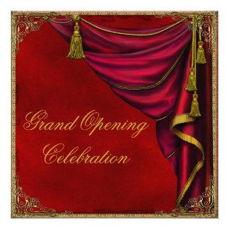 Gran inauguración roja del negocio corporativo del anuncios personalizados