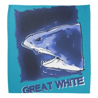 gran medio dibujo animado del cuerpo del tiburón bandanas