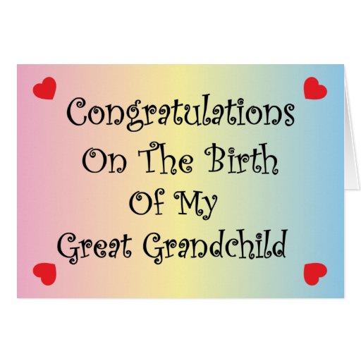 Gran nieto felicitaciones