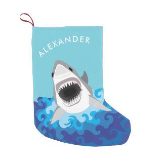 Gran nombre divertido del personalizado del dibujo calcetín de navidad pequeño