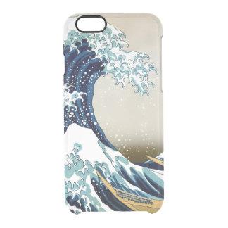 Gran onda de alta calidad de Kanagawa por Hokusai Funda Transparente Para iPhone 6/6S