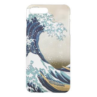 Gran onda restaurada de Kanagawa por Hokusai Funda Para iPhone 7 Plus
