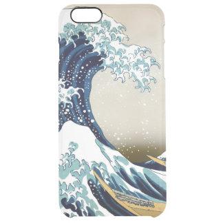 Gran onda restaurada de Kanagawa por Hokusai Funda Transparente Para iPhone 6 Plus
