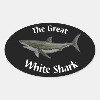 gran pegatina del tiburón blanco