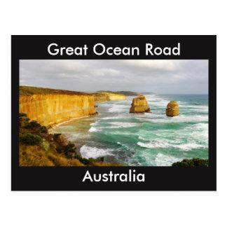 Gran postal de Australia del camino del océano