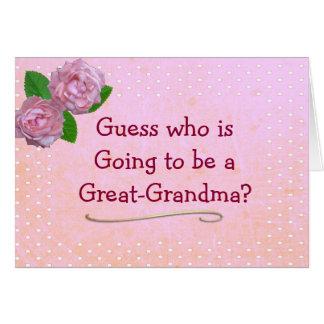 Gran rosa de la abuela y tarjeta de Announcemen