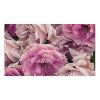 gran rosa de rosas del jardín plantilla de tarjeta de negocio