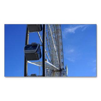 Gran rueda de la montaña ahumada tarjeta de visita magnética