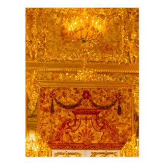 Gran sitio del ámbar de Tsarskoye Selo del palacio Postal
