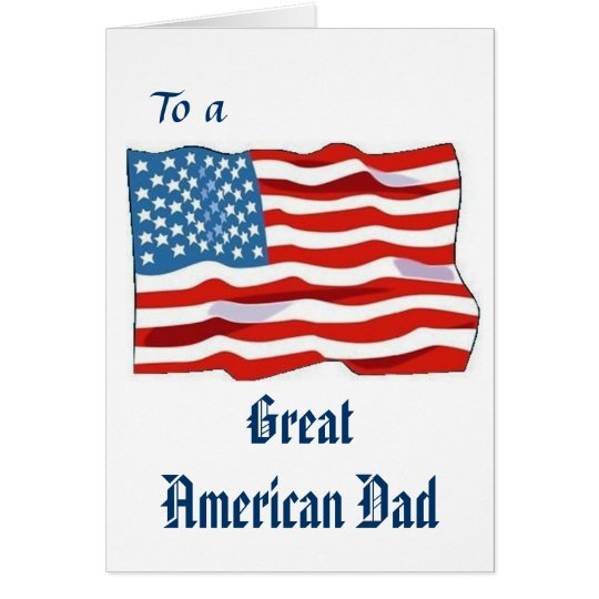 Gran tarjeta americana del papá