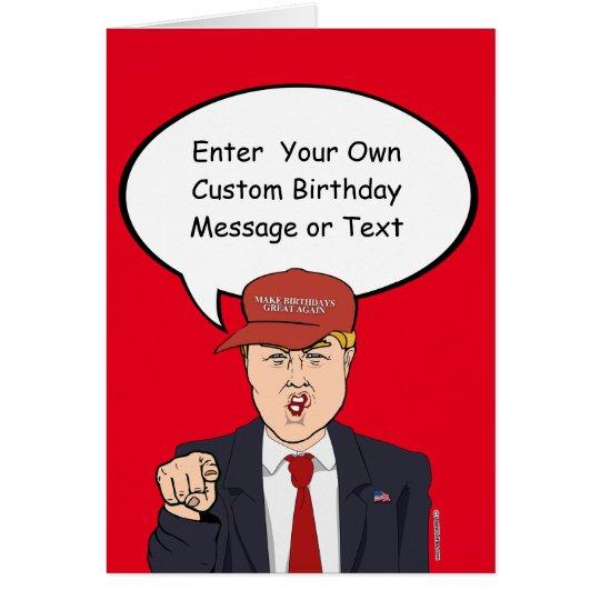 Gran tarjeta de cumpleaños del triunfo - modifique